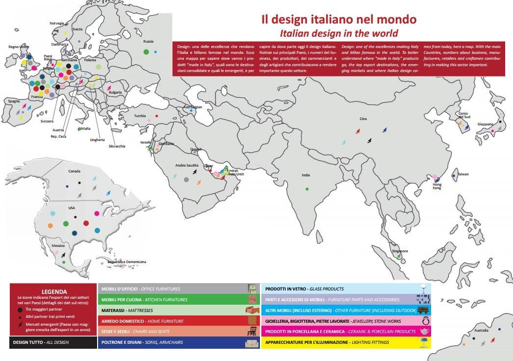 Il design italiano nel mondo for Design italiano
